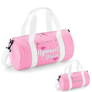 Varsity barrel bag pink&white 9047FB