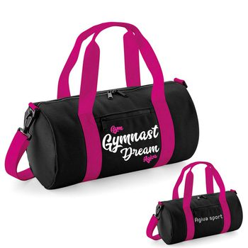 Varsity barrel bag black&fushia 9047NF