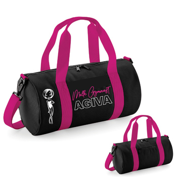 Varsity barrel bag black&fushia 9001NF